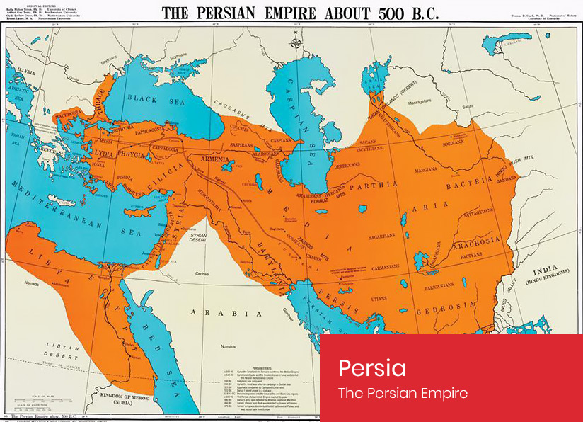 The Persian Empire about 500 B.C.